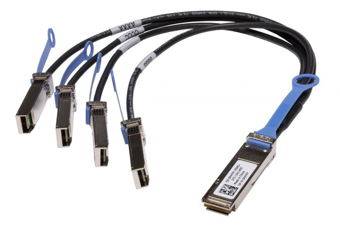 Dell QSFP+ to 4x SFP+ Breakout Cable 0.5M - P4YPY