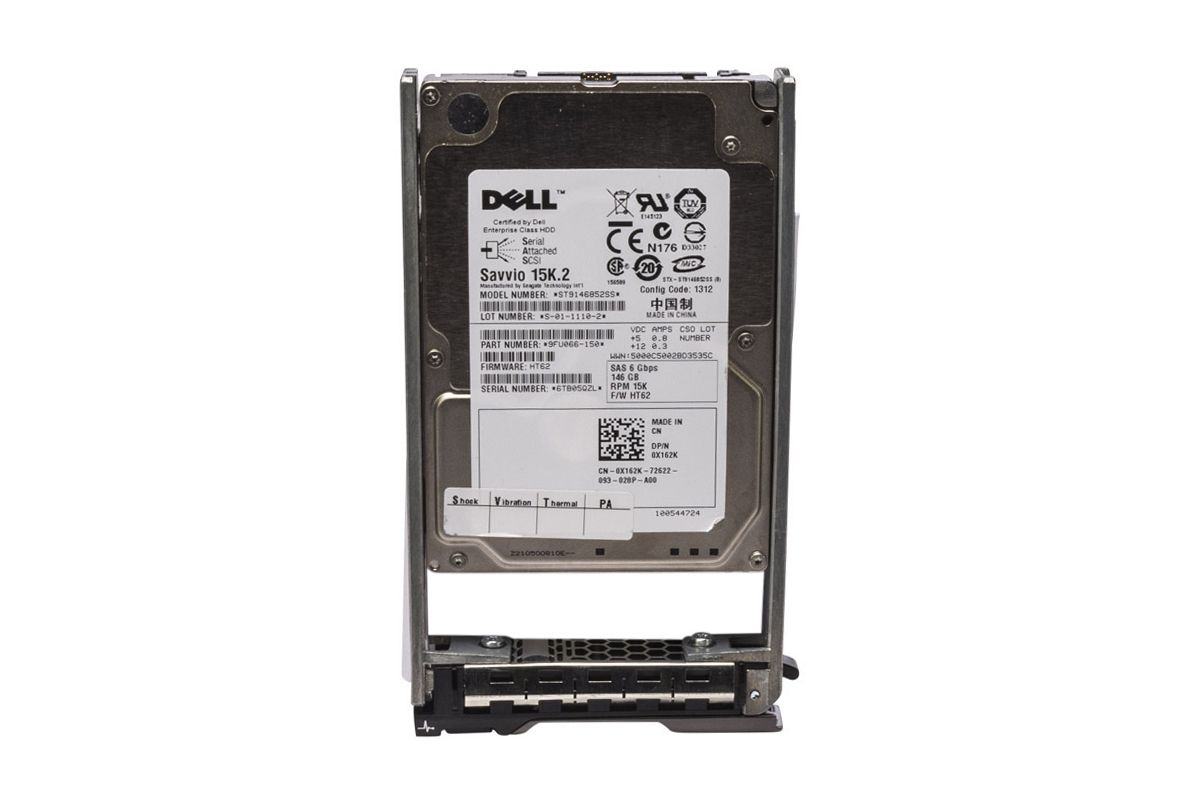 "Lot of 4-146GB 15K 6g 2.5/"" SAS HDD SEAGATE ST9146852SS in Dell R-series Caddy"