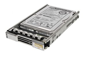 """Dell EqualLogic 900GB SAS 10k 2.5"""" 6G Hard Drive W4K81 in PS4100 / PS6100 Caddy - New"""