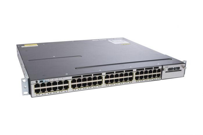 Cisco Catalyst WS-C3750X-48T-L Switch 48x 1Gb RJ-45 Ports & 1x PSU