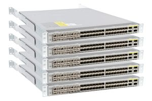 5 x Cisco Nexus N3K-C3064PQ-10GX Reverse Airflow Switches 48x SFP+ + 4x QSFP+