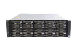 Dell Compellent SCv3020 with 10Gb/s 10G-iSCSI-4 SFP Controllers 30 x 1.92TB SAS 12G