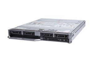 "Dell PowerEdge M830 1x4 2.5"" SAS, 4 x E5-4627v3 2.6GHz Ten-Core, 128GB, PERC H730, iDRAC8 Ent"