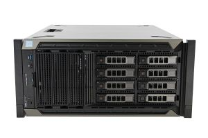 "Dell PowerEdge T440-R 1x8 3.5"", 2 x Gold 6126 2.6GHz Twelve-Core, 96GB, 8 x 10TB SAS, H730P, iDRAC9"