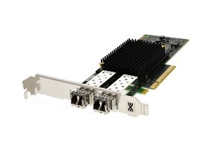 Dell Emulex LPe31002 16Gb FC SFP+ Dual Port Full Height Host Bus Adapter - RXNT1 - Ref