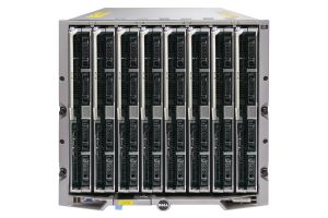 Dell PowerEdge M1000e - 8 x M820, 2xE5-4607, 64GB, 2 x 300GB SAS, PERC H310, Ent