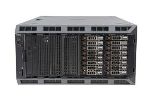 "Dell PowerEdge T620-R 1x16 2.5"", 2 x E5-2680v2 2.8GHz Ten-Core, 128GB, 16 x 1.2TB 10k SAS, PERC H710"