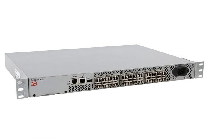 Brocade 300 24x SFP+ Port (24 Active) Switch w/ 24 x 8Gb GBICs - HD-360-0004