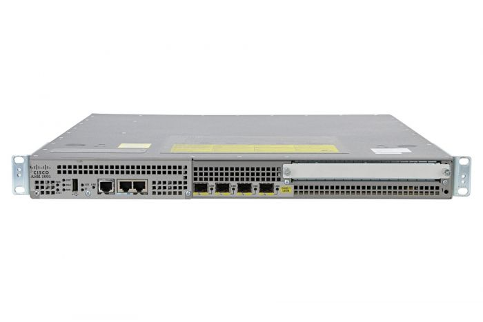 Cisco ASR1001 Router 4 x 1Gb SFP with Advanced IP Services, IP Sec, & Throughput License