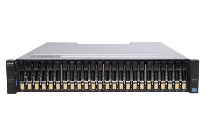 Dell Compellent SCv2020 with 1Gb/s iSCSI Controllers 24 x 400GB 6G SSD