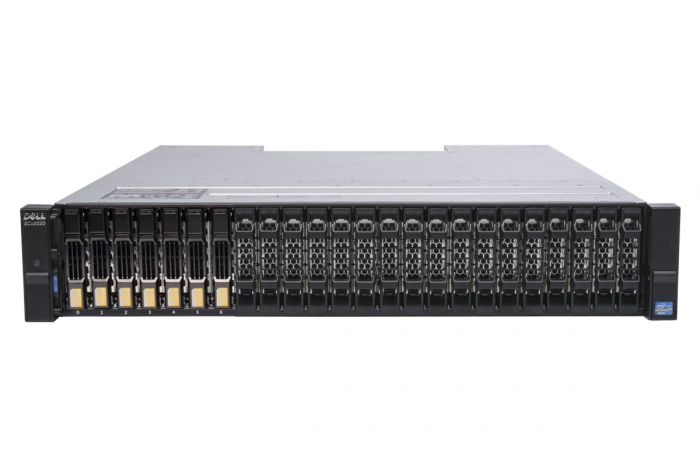 Dell Compellent SCv2020 with 10Gb/s iSCSI Controllers 7 x 1.6TB 12G SSD SAS