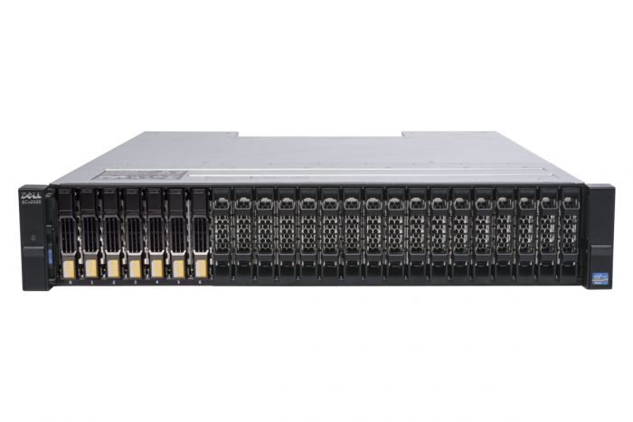 Dell Compellent SCv2020 with 1Gb/s iSCSI Controllers 7 x 1TB 7.2k