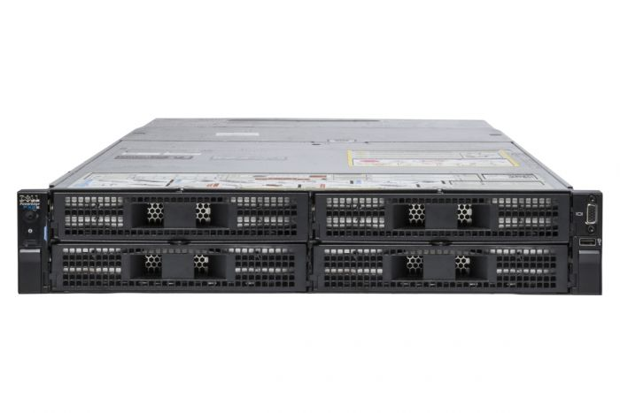 Dell PowerEdge FX2S Rack 1x4, 4 x FC630, 1 x E5-2690v3 Twelve-Core 2.6GHz, 8GB, H330, iDRAC8 Exp
