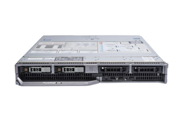 Dell PowerEdge M820 1x4, 4 x E5-4607 2.2GHz Six-Core, 128GB, 2 x 600GB SAS, PERC H310, iDRAC7 Ent