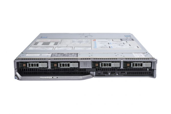Dell PowerEdge M820 1x4, 4 x E5-4607 2.2GHz Six-Core, 32GB, 4 x 1TB 7.2k SAS, PERC H710, iDRAC7 Ent