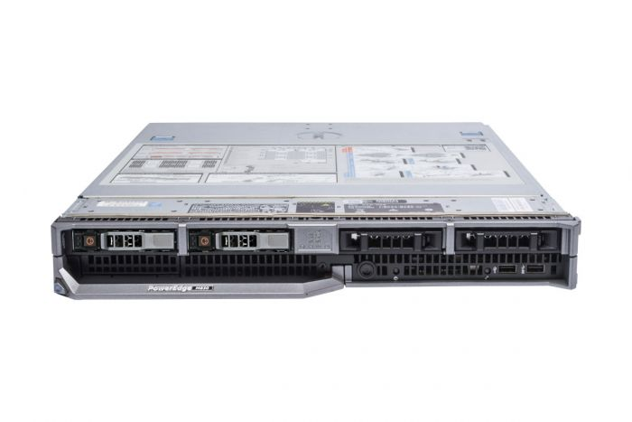 Dell PowerEdge M830 4 x E5-4627v3 2.6GHz Ten-Core, 256GB, PERC H330, 2 x 300GB 10k, iDRAC8 Ent