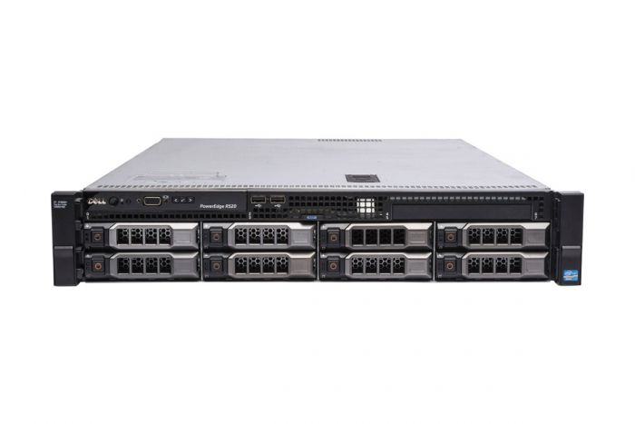 "Dell PowerEdge R520 1x8 3.5"", 2 x E5-2450v2 2.5GHz Eight-Core, 32GB, 8 x 4TB 7.2k SATA, H710, iDRAC7 Ent"