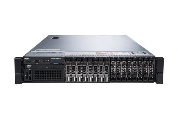 "Dell PowerEdge R720 1x16 2.5"", 2 x E5-2620 2.0GHz Six-Core, 64GB, 8 x 300GB 15k SAS, PERC H710, iDRAC7 Ent"