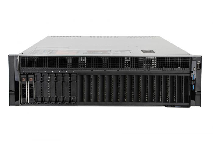 "Dell PowerEdge R940 1x8 2.5"", 4 x Gold 5115 2.4GHz Ten-Core, 256GB, 2 x 600GB 15k SAS, H740P, iDRAC9 Ent"