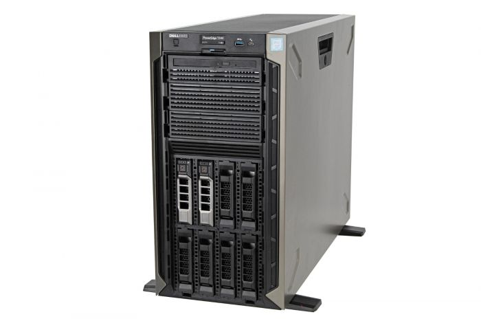 Dell PowerEdge T340 1x8, E-2124 3.3GHz Quad-Core, 8GB, 2 x 1TB SATA 7.2k, PERC H330, iDRAC9 Basic