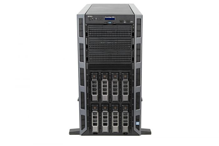 "Dell PowerEdge T430 1x8 3.5"", 2 x E5-2690v3 2.6GHz Twelve-Core, 128GB, 8 x 10TB SAS 7.2k, PERC H730, iDRAC8 Ent"