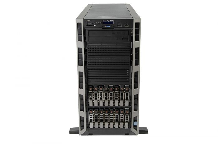 Dell PowerEdge T620 1x16, 2 x E5-2680v2 2.8GHz Ten-Core, 128GB, 16 x 2.4TB 10k SAS, PERC H710