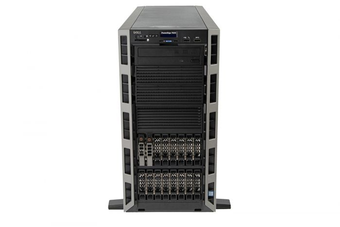 Dell PowerEdge T620 1x16, 2 x E5-2670 2.6GHz Eight-Core, 64GB, 2 x 2.4TB 10k SAS, PERC H710