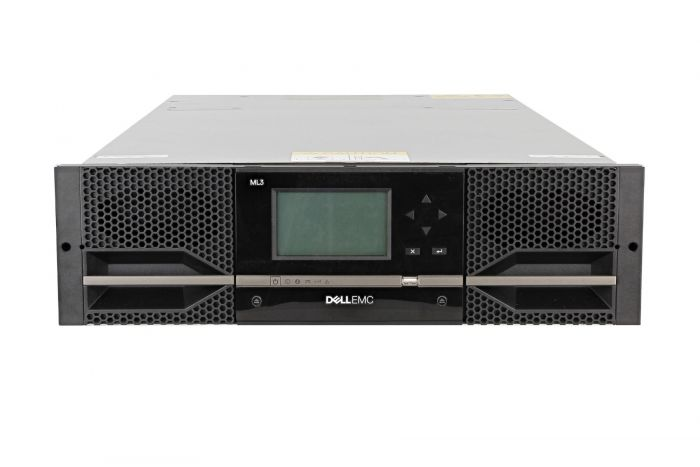 Dell PowerVault ML3 with 2 x LTO-6 SAS Half Height Tape Drives