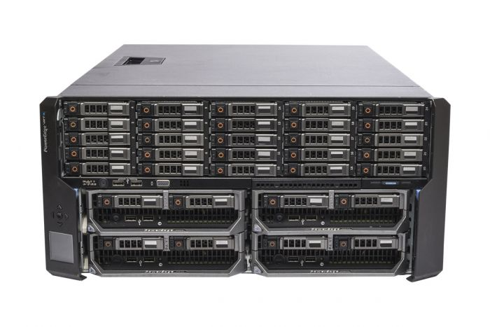 Dell PowerEdge VRTX Rack 1x25, 25 x 1.2TB SAS, 4 x M620P, 2 x E5-2630L Six-Core 2.0GHz, 16GB, H310, iDRAC7 Ent