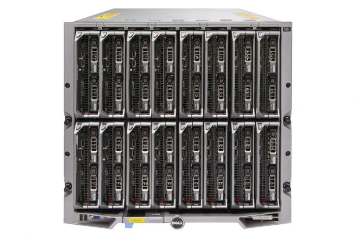 Dell PowerEdge M1000e - 16 x M630, 2xE5-2690v3, 64GB, 2x146GB SAS 15k, PERC H730, Ent