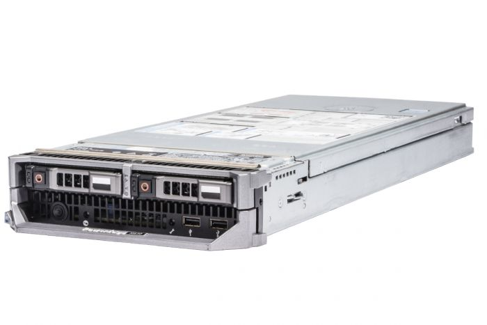 Dell PowerEdge M630 2 x E5-2670v3 2.3GHz Twelve-Core, 128GB, 2 x 480GB SSD SATA, Onboard PERC S130 SATA RAID, iDRAC8 Ent