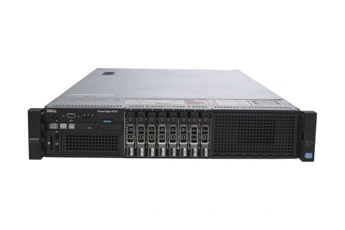 "Dell PowerEdge R720 1x8 2.5"", 2 x E5-2690 2.9GHz Eight-Core, 64GB, 8 x 300GB 15k SAS, PERC H710, iDRAC7 Ent"