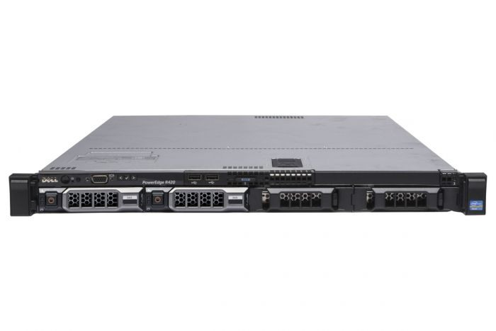 "Dell PowerEdge R420 1x4 3.5"", 2 x E5-2420 1.9GHz Six-Core, 32GB, 2 x 2TB SAS, PERC H710, iDRAC7 Ent"