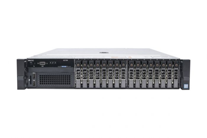 "Dell PowerEdge R730 (XC730) 1x16 2.5"", 2 x E5-2660v3 2.6GHz Ten-Core, 128GB, 16 x 900GB 10k SAS, H730, iDRAC8 Ent"