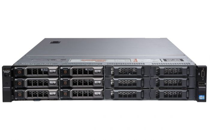 "Dell PowerEdge R720xd 1x12 3.5"", 2 x E5-2650 2.0GHz Eight-Core, 32GB, 6 x 6TB SAS, PERC H710, iDRAC7 Ent"